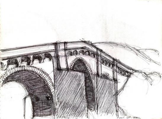 Croquis du Pont par Renaud Remusat.