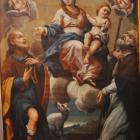 La Vierge à l' Enfant entre San Roccu et Sant' Alesiu par Fr. Carli.