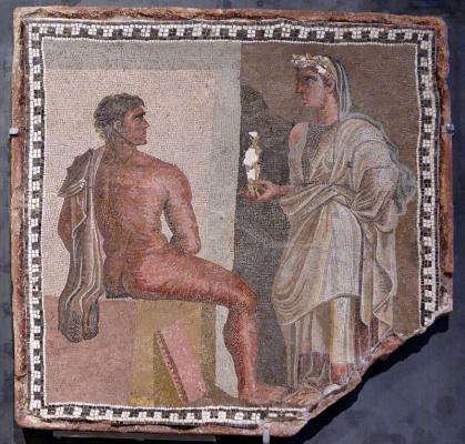 800px mosaic orestes iphigenia musei capitolini mc4948