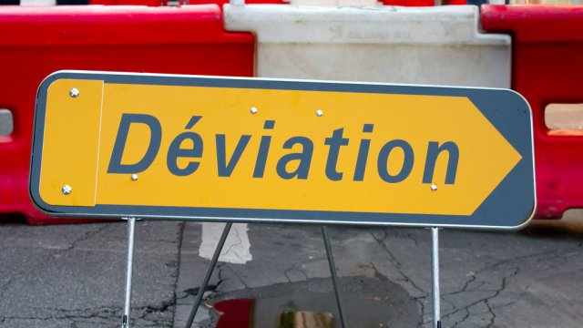Panneau de deviation